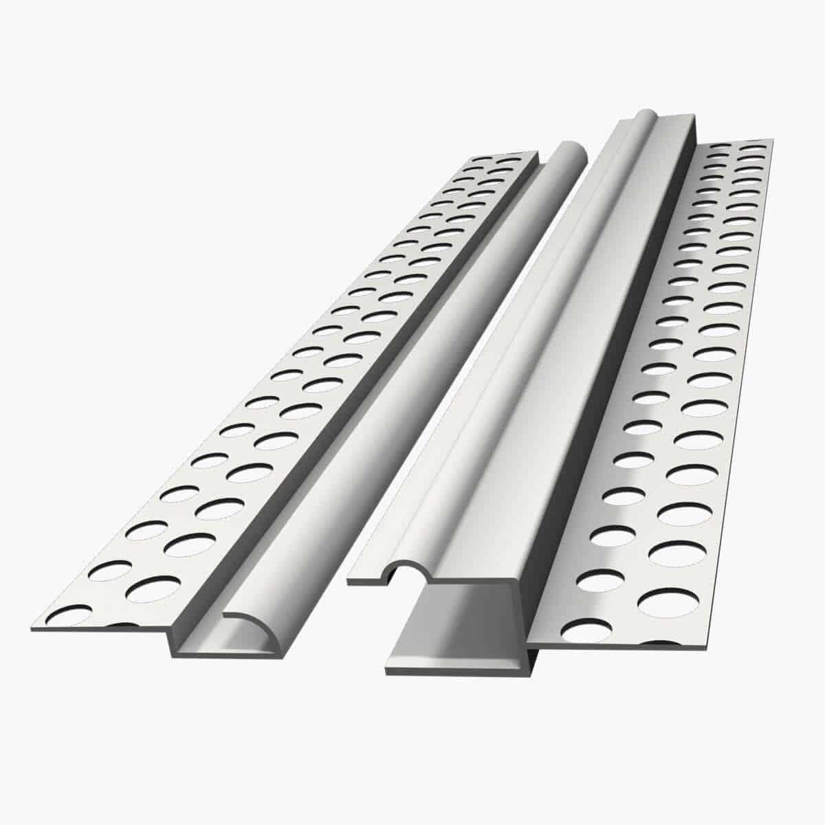 Profilé décoratif, TEMPOLISTEL A125 Joint de dilatation pour faux-plafond