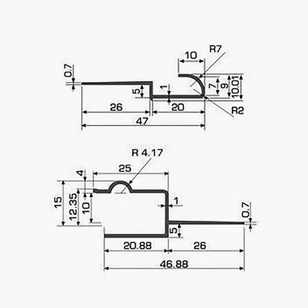 TEMPOLISTEL A125 Joint de dilatation pour faux-plafond dimensions