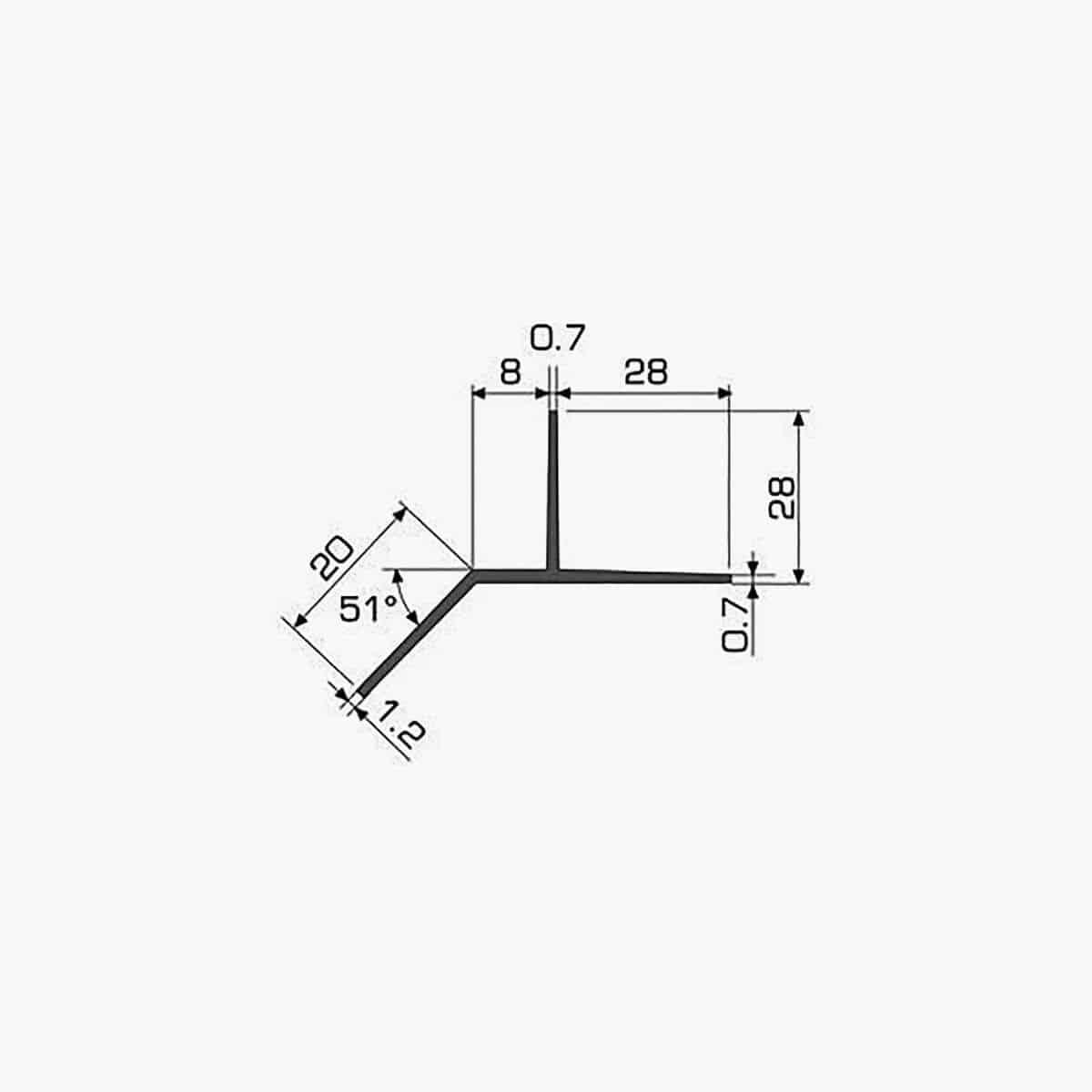 TEMPOLISTEL A127 Profilé bas de cloison dimensions
