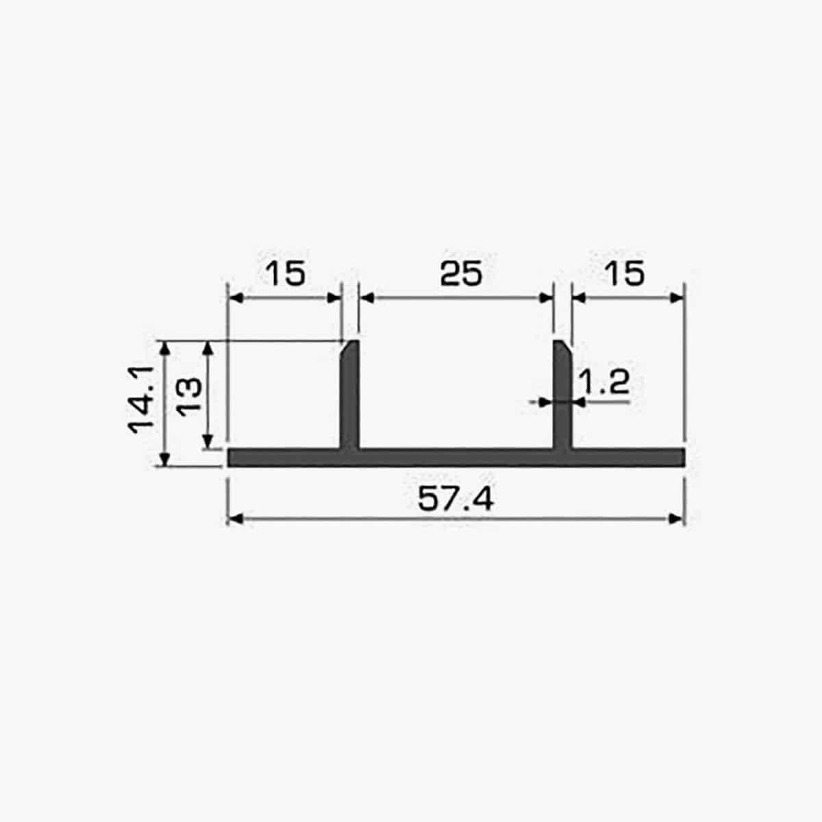 TEMPOLISTEL A121 Profilé couvre joint dimensions