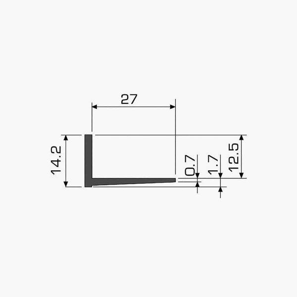 TEMPOLISTEL A110 Profilé d'arrêt cloison dimensions