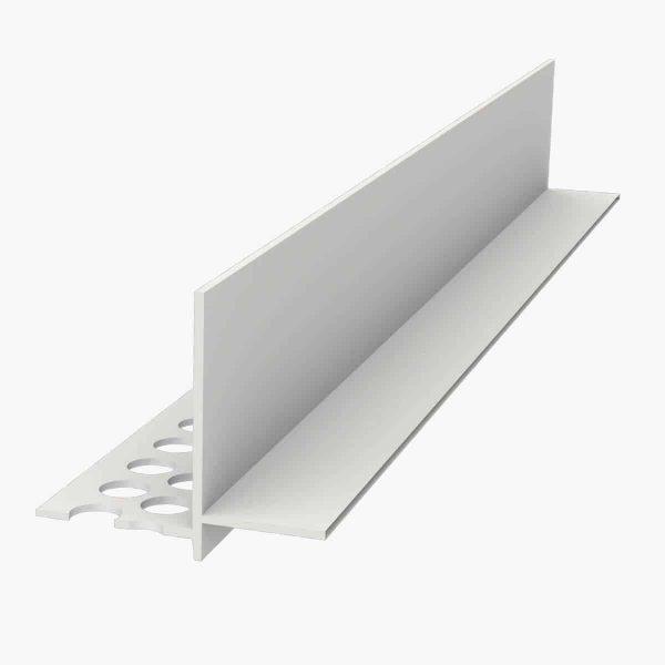 TEMPOLISTEL B101 Profilé de transition décaissé à enduire pour jonction faux plafond plaque de plâtre et démontable