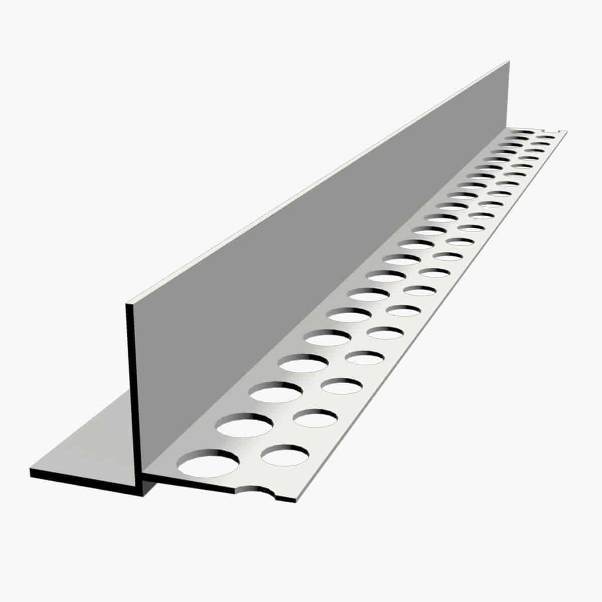 Nouveau TEMPOLISTEL B105 Profilé de transition pour jonction faux plafond plaque de plâtre et démontable avec un coté à enduire