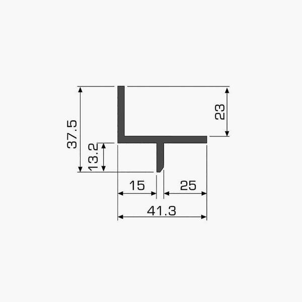 TEMPOLISTEL A113 Profilé décoratif dimensions