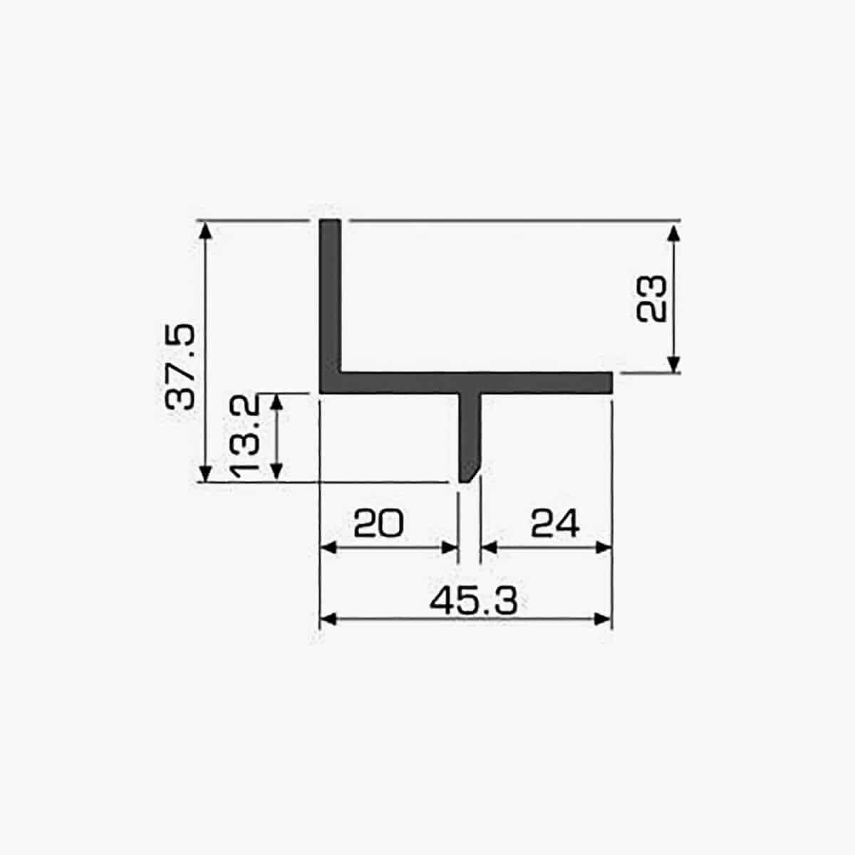 TEMPOLISTEL A117 Profilé décoratif dimensions