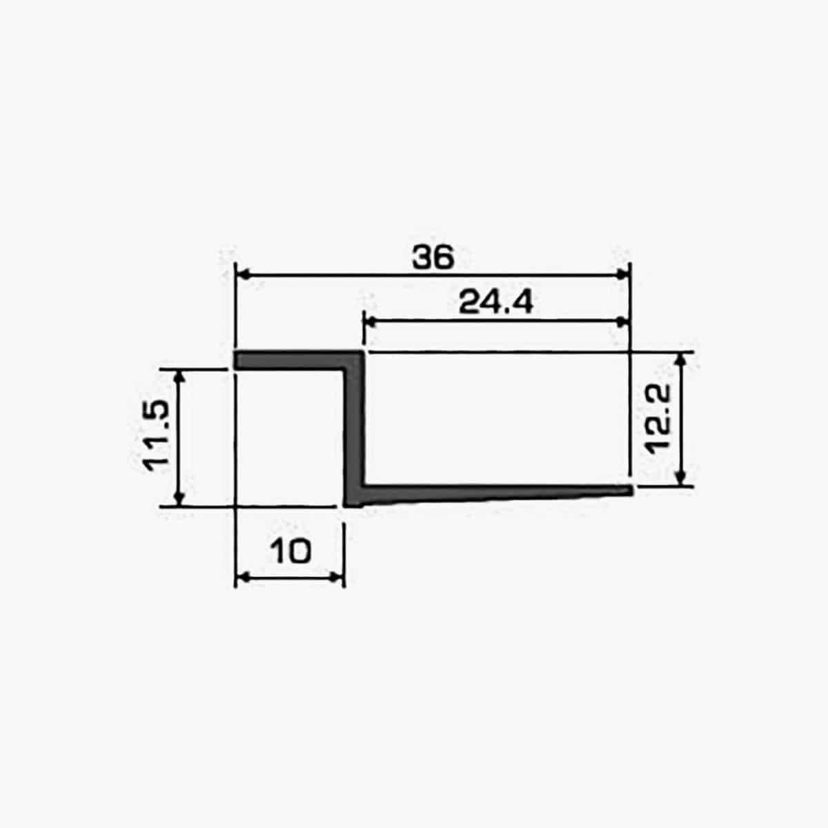 A102 Profilé joint creux dimensions