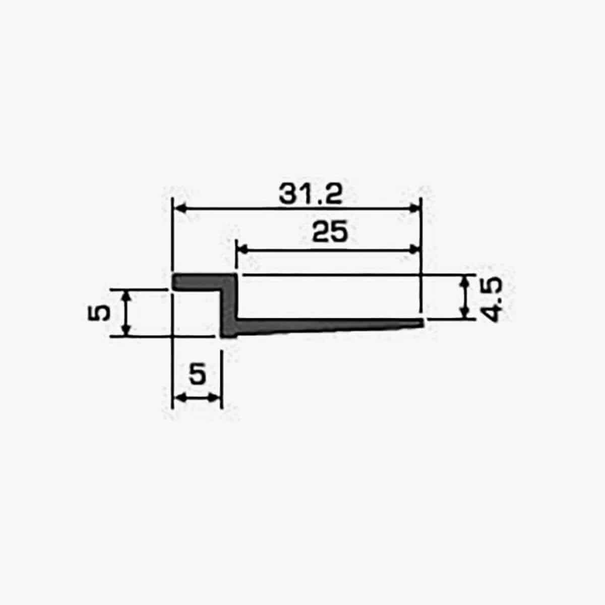 A103 Profilé joint creux dimensions