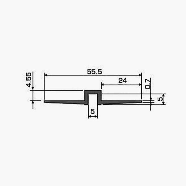 TEMPOLISTEL A104 Profilé joint creux dimensions