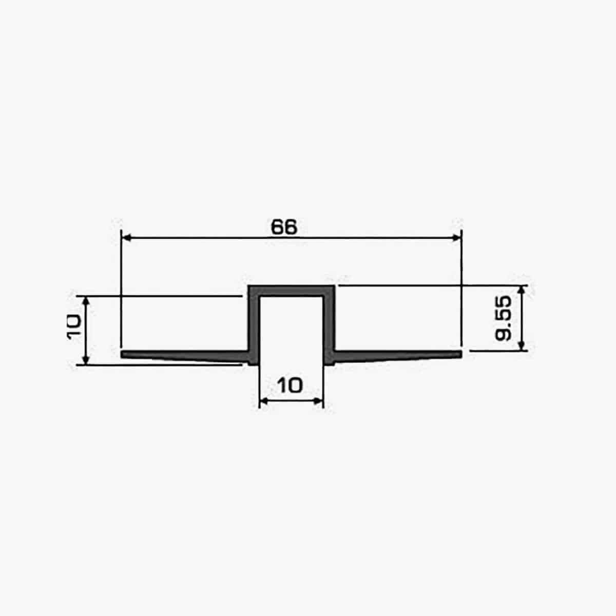 A104 Profilé joint creux dimensions