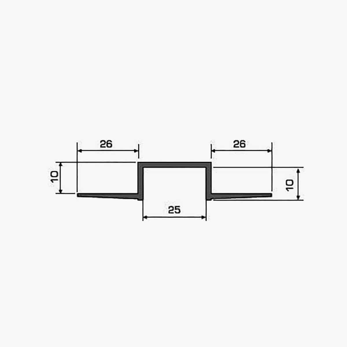 TEMPOLISTEL A106 Profilé joint creux dimensions