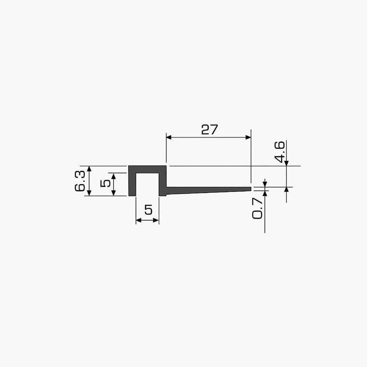 TEMPOLISTEL A107 Profilé joint creux dimensions