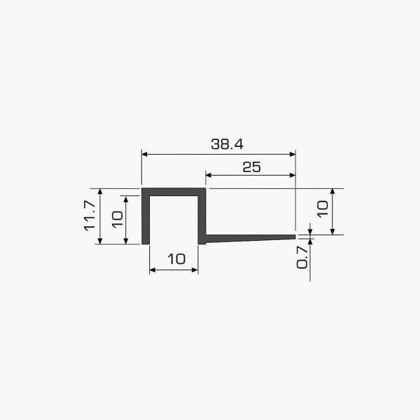 TEMPOLISTEL A108 Profilé joint creux dimensions