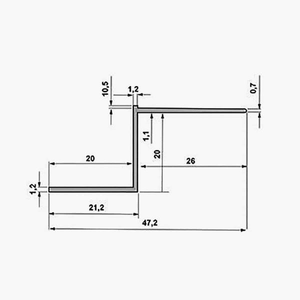 TEMPOLISTEL A129 Profilé joint creux dimensions