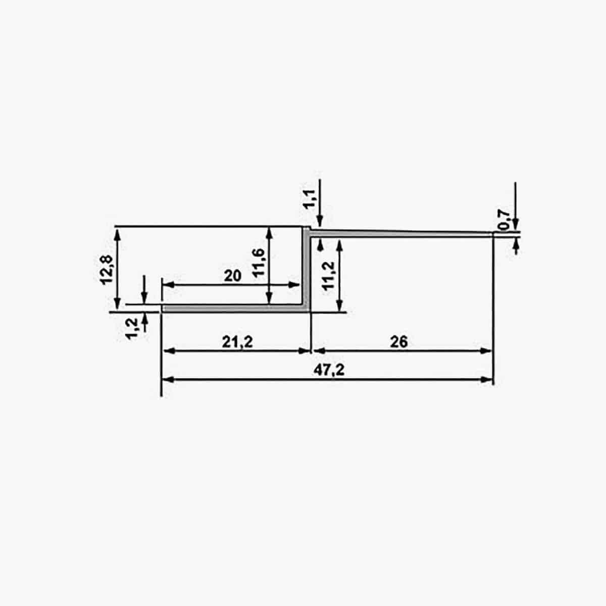 TEMPOLISTEL A130 Profilé joint creux dimensions