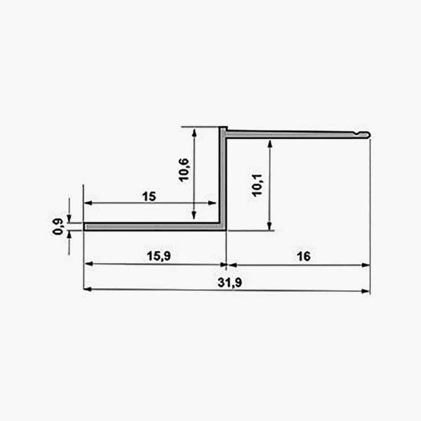 TEMPOLISTEL A131 Profilé joint creux dimensions