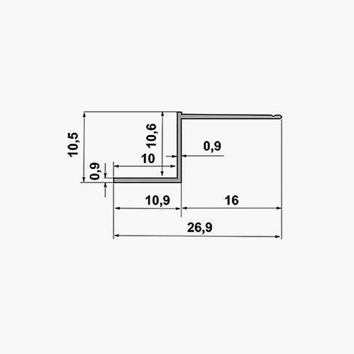 TEMPOLISTEL A132 Profilé joint creux dimensions