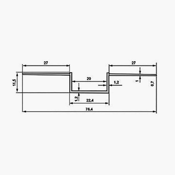 TEMPOLISTEL A136 Profilé joint creux dimensions
