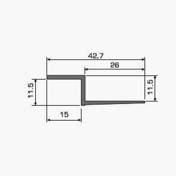 A101 Profilé joint creux dimensions