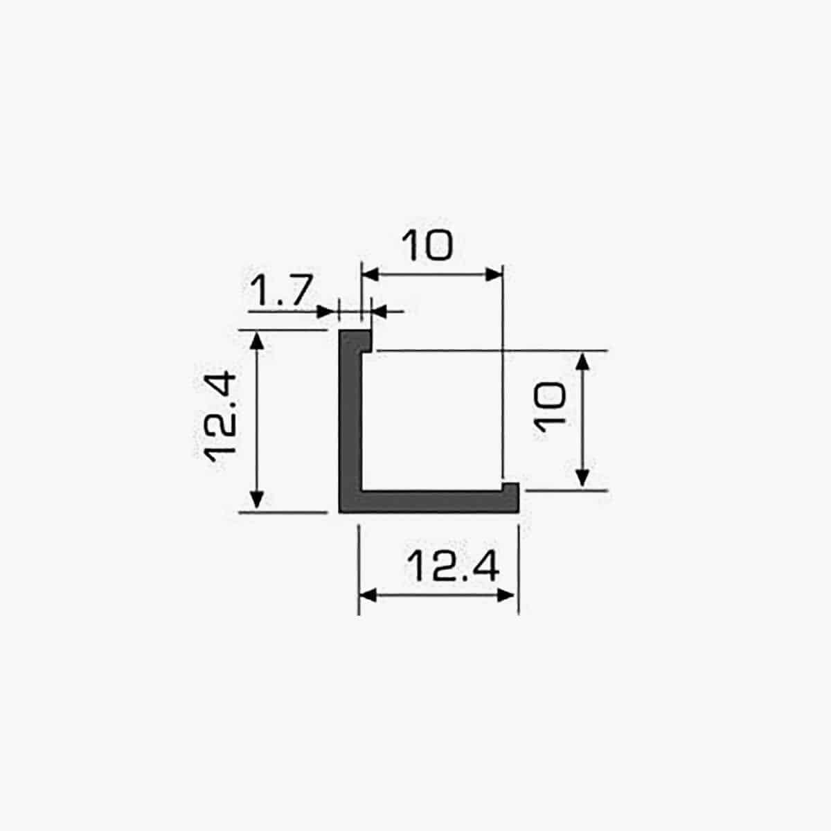 TEMPOLISTEL A123 Profilé protège angle dimensions