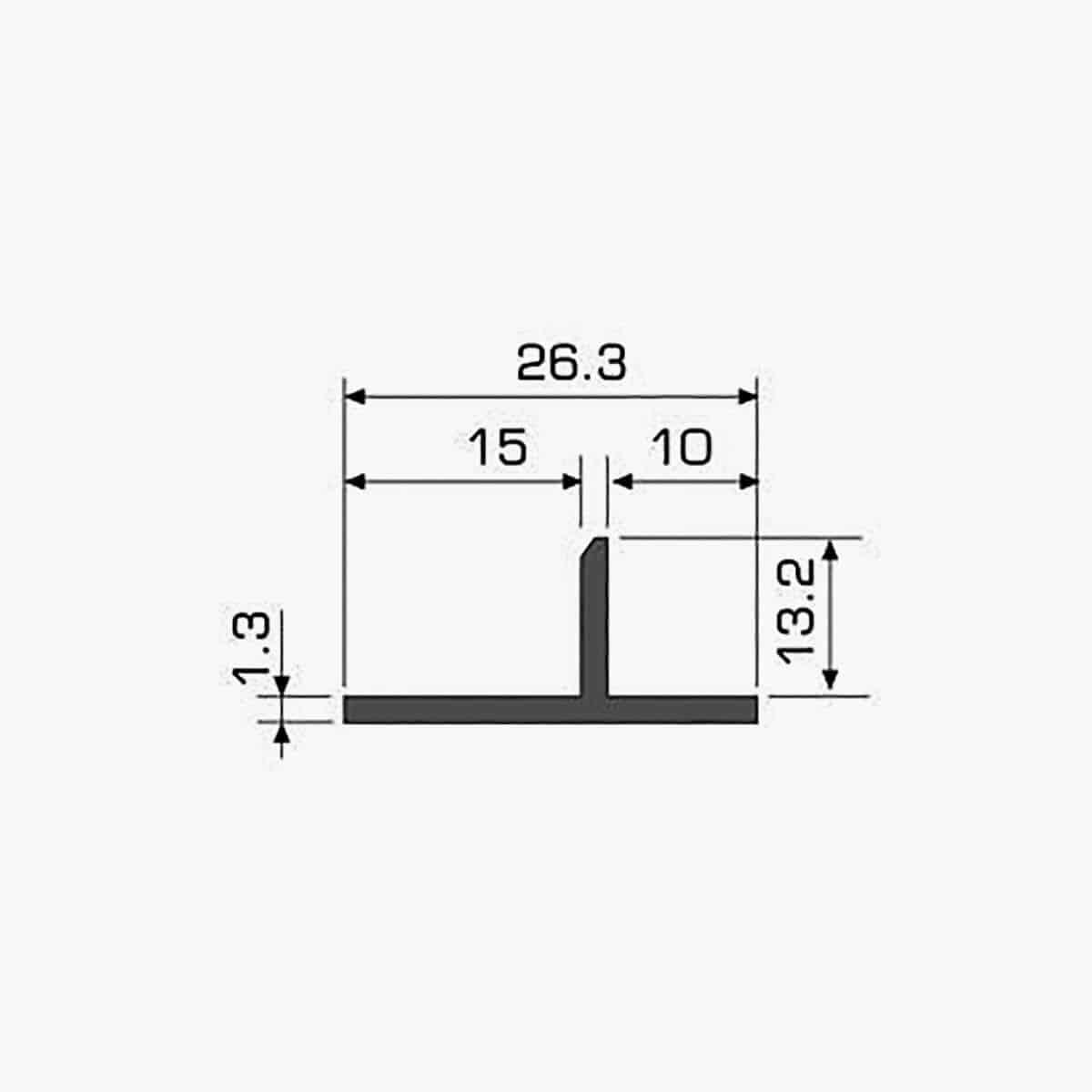 TEMPOLISTEL A120 Profilé T dimensions