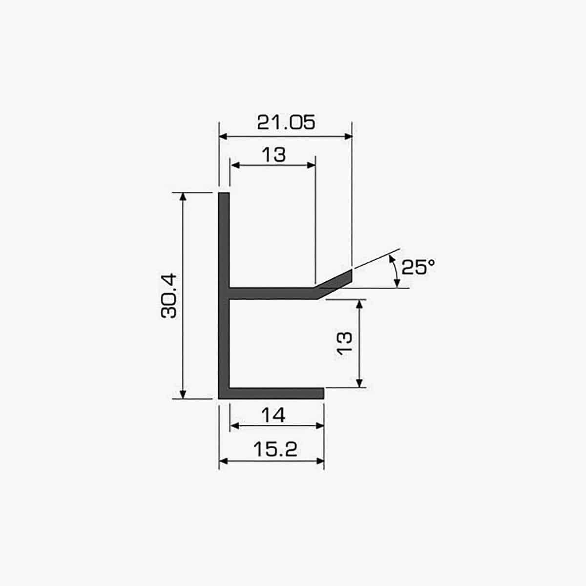 TEMPOLISTEL A115 Profilé U plaque de plâtre dimensions
