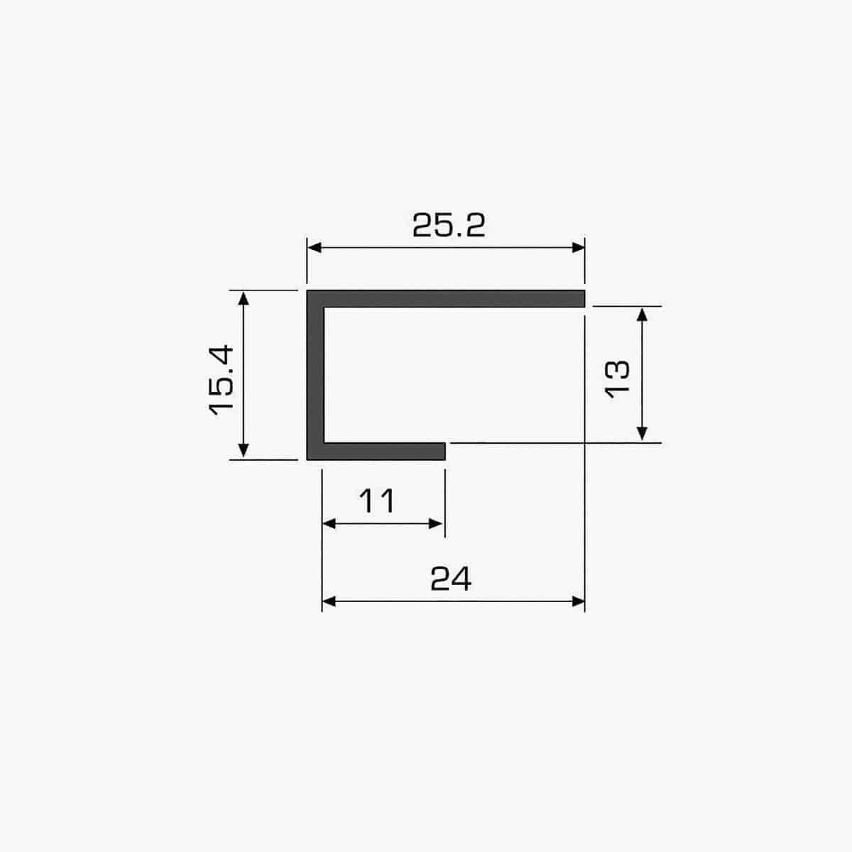 TEMPOLISTEL A116 Profilé U plaque de plâtre dimensions