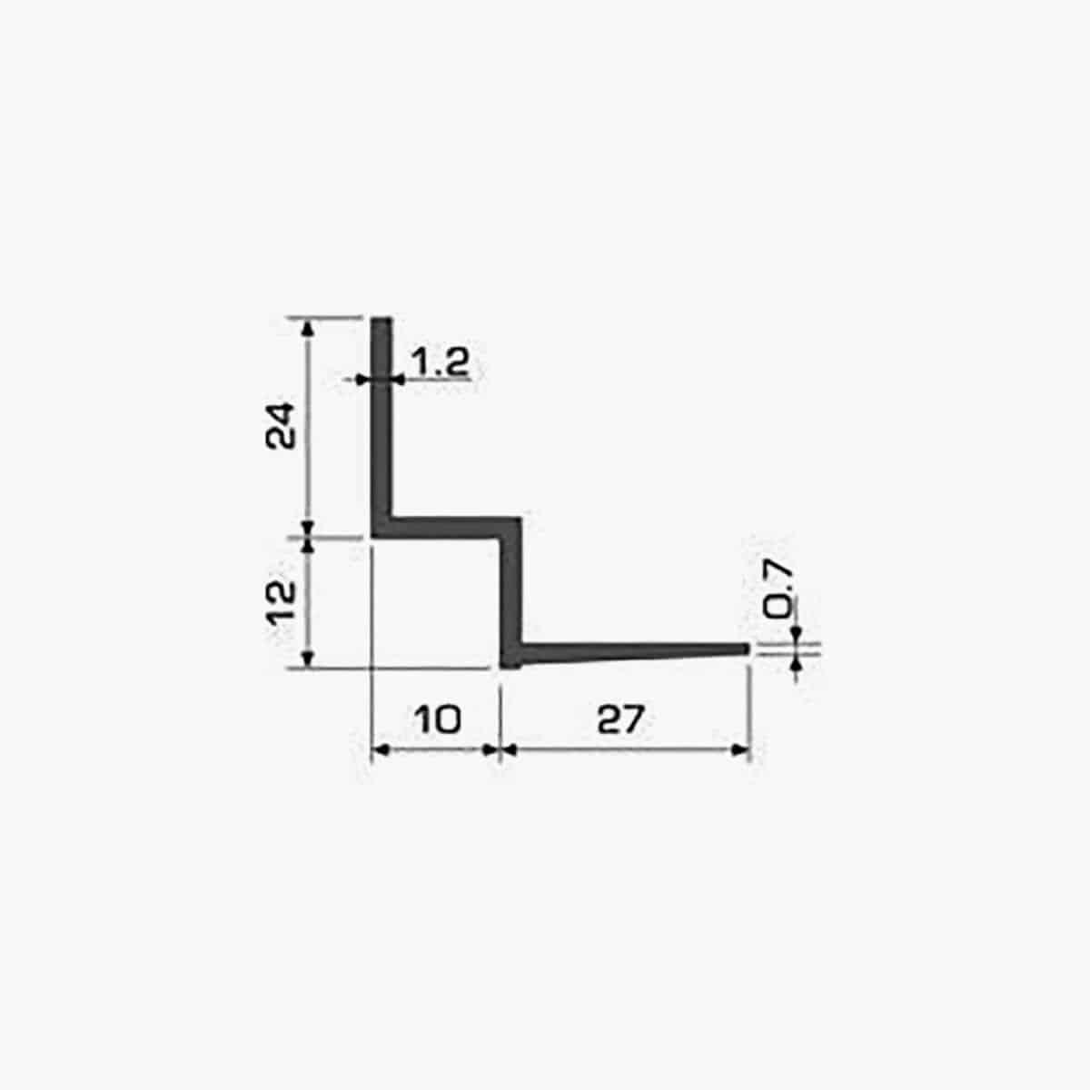 TEMPOLISTEL A126 Profilé w pour faux plafond dimensions
