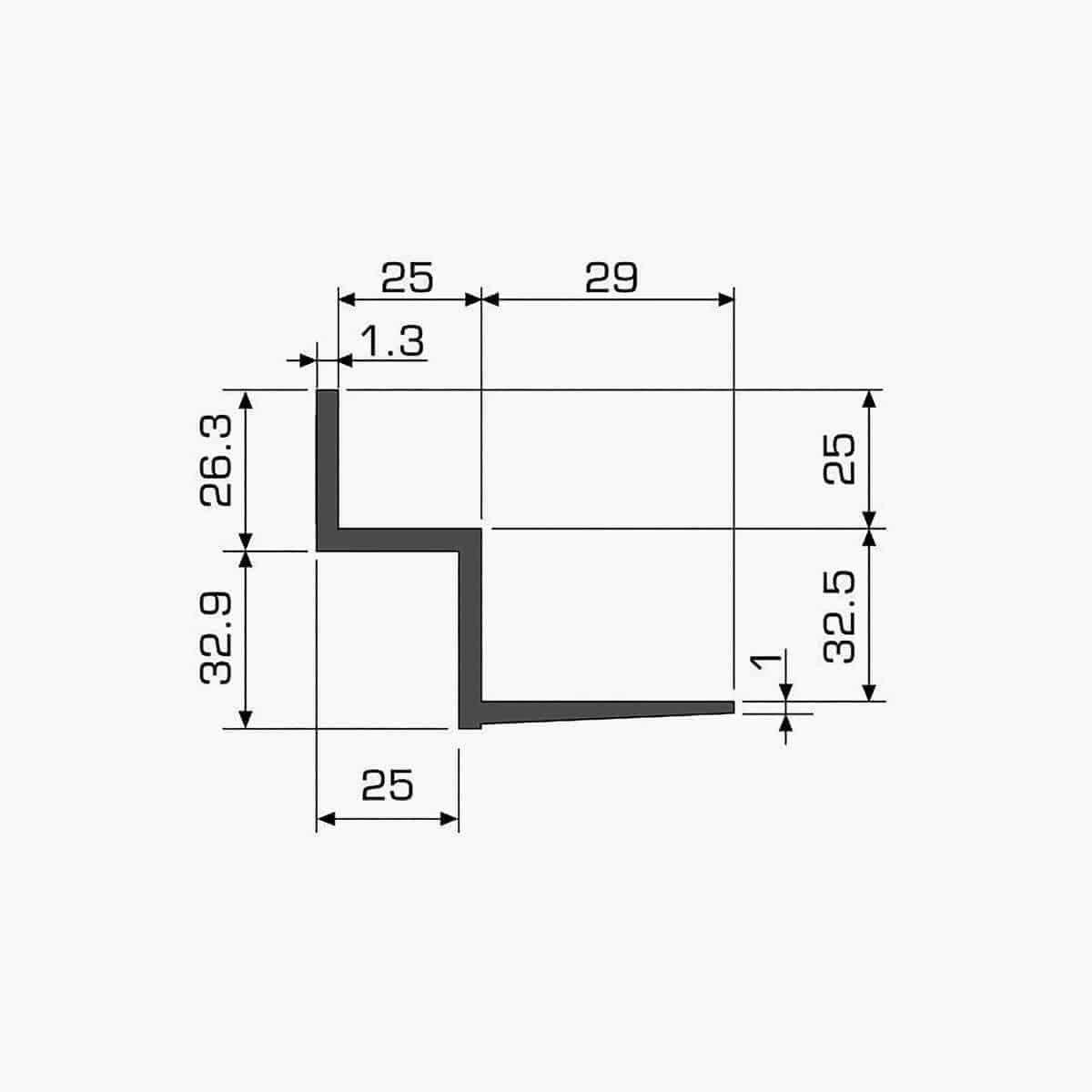TEMPOLISTEL A111 Profilé w dimensions